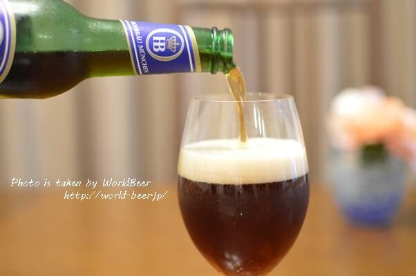 色は濃いけど飲みやすくて余韻を楽しめる輸入ビール!ドイツの「ホフブロイ ドゥンケル」。