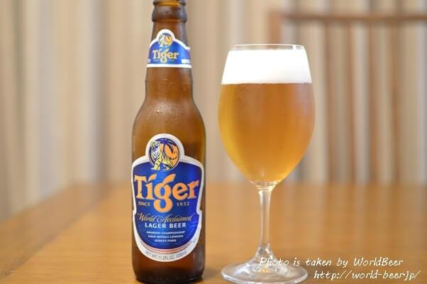 濃い味付けの料理に非常によく合う輸入ビール、シンガポールの「タイガー」!!