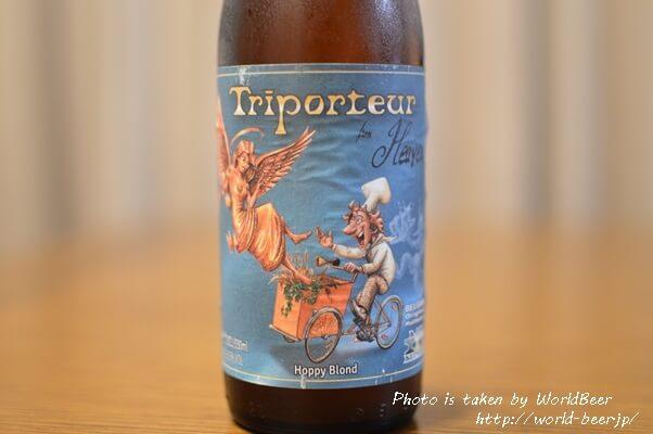 ラベルがオシャレなベルギービール「トリポーター フロム ヘブン」