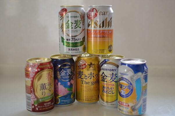 国内主要メーカーのビールと発泡酒と新ジャンル商品