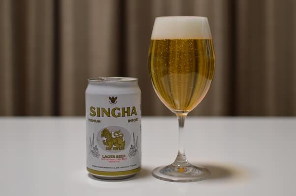 シンハービールの缶を見つけた!